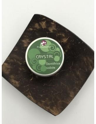 Crystal - Dentifrice Solide aux 2 menthes - Boîte métal - 20g - Pachamamaï