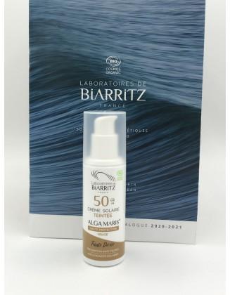 Crème solaire teintée SPF50 - Dorée - 50 ml - Alga Maris