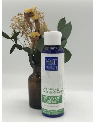 Gel mains nettoyant purifiant aux huiles essentielles - 100ml - Herbes & Traditions