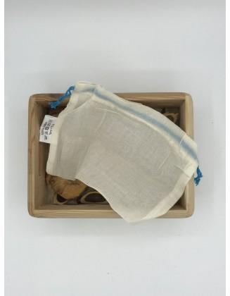 Sacs réutilisables coton bio - Lot de 8 - Taille XS (4 sacs 10x14cm + 4 sacs 16x16cm)