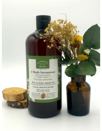 Huile Savonneuse - Verveine citronnée - 500ml - Comptoir des huiles