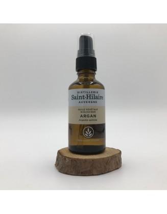 Huile végétale d Argan vierge bio - 50 ml - De Saint Hilaire